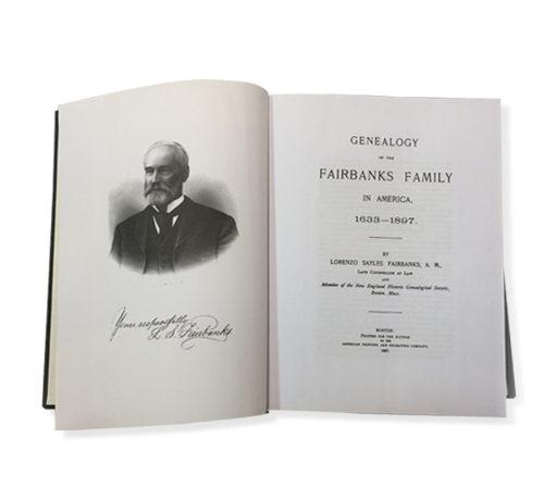 Genealogy of the Fairbanks Family in America 1633-1897