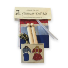 Fairbanks House - Clothes Pin Doll Kit